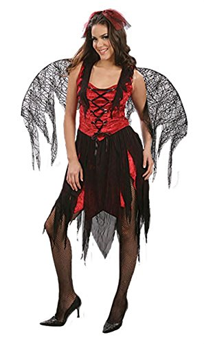 Rimi Hanger Womens Halloween Red Hot Wings Devil Costume Ladies Fancy Dress Demon Angel Outfit One Size Fits US (Demon Outfits Halloween)