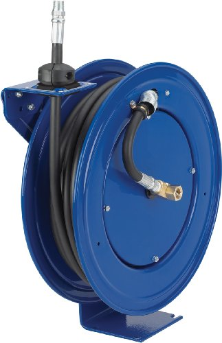 - Coxreels Performance Series Compact Hose Reel - 7 Inch x 18 1/4 Inch x 17 1/4 Inch, 3/8 Inch x 35Ft. Hose for Oil, Model P-MP-335