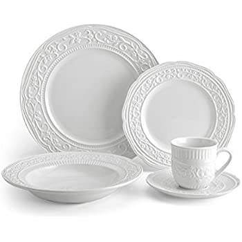 Mikasa American Countryside 40-Piece Dinnerware Set Service for 8  sc 1 st  Amazon.com & Amazon.com: Mikasa American Countryside 40-Piece Dinnerware Set ...
