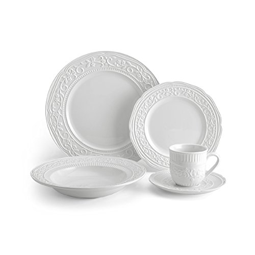 Mikasa American Countryside 40-Piece Dinnerware Set, Service for 8 by Mikasa