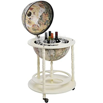 Astounding Globe Drinks Cabinet Colour Cream Home Interior And Landscaping Eliaenasavecom