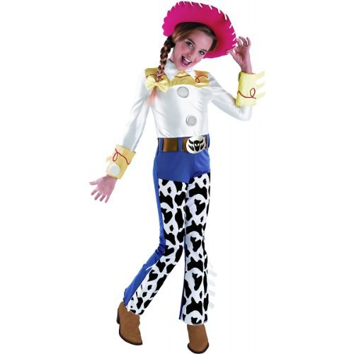 Disguise Toy Story Jessie Deluxe Toddler Costume, White / Blue / Yellow, ()