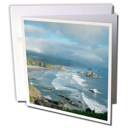 3dRose Oregon Coast, cannon Beach, Ecola State Park Greeting Cards, 6