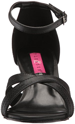 Pleaser DIVINE-435 Damen Sandalette Blk Faux Leather