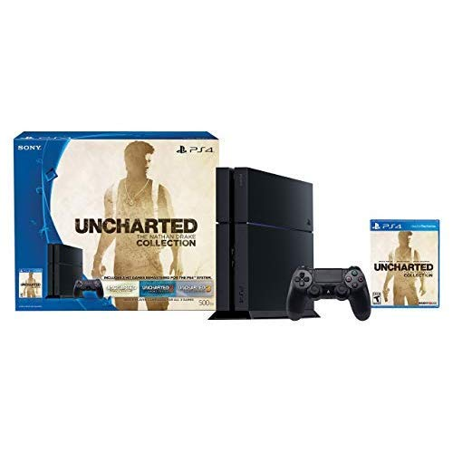 PlayStation 4 500GB Console – Uncharted: The Nathan Drake Collection Bundle (Physical Disc)[Discontinued] (Renewed)