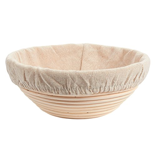 Juvale Banneton Proofing Basket Set - 11-Piece Brotform Bread Dough Rising Baking Kit, Includes Round Rattan Basket, Cotton Liner Cloth, Dough Scraper, and 8 Different Xmas Themed Stencils by Juvale (Image #2)'