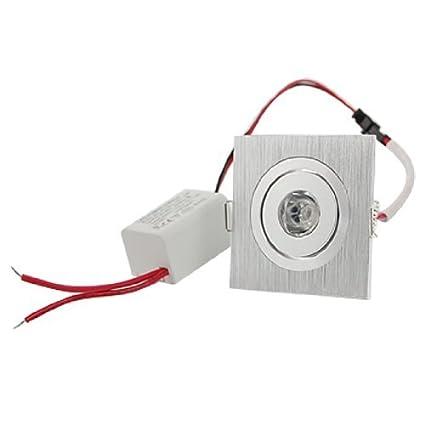 eDealMax 2700K 1W1 LED proyector del techo cuadrado de Downlight de la luz ámbar - - Amazon.com