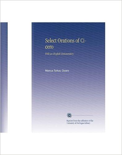 Téléchargement de livres audio en mp3 Select Orations of Cicero: With an English Commentary ePub