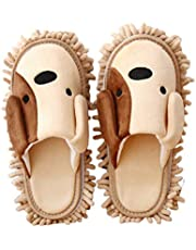 TOPBATHY 1 Pair Microfiber Slipper Mop Shoes Detachable Reusable for Bathroom House Office Kitchen Floor Dust Dirt Hair Cleaning Tool