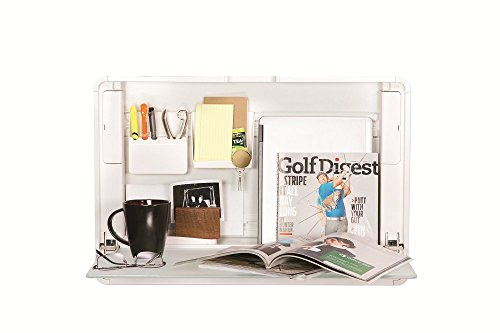 ErgotronHome Workspace Wall Mounted, Standing Desk & Organizer (HUB24 White) (Standing Wall Desk)