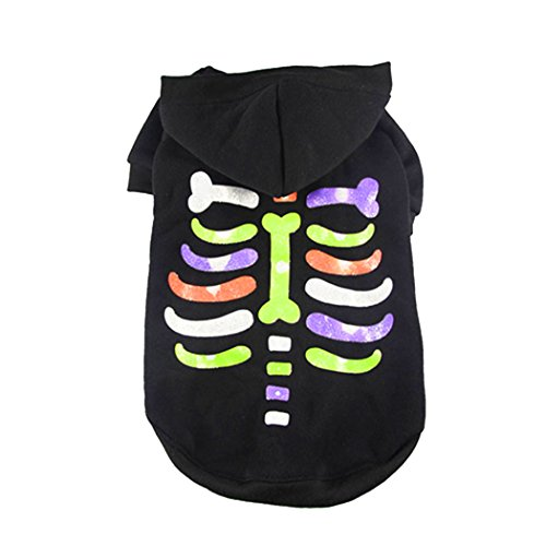 [Homure Halloween LED Light Pet Dog Hoodie Winter Sweater Coat Puppy Christmas Costume Clothes] (Spirit Walker Costume)