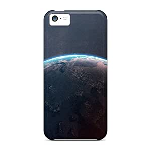 SQfTXc162 Tpu Case Skin Protector For Iphone 5c Planets Earth Simplicity With Nice Appearance