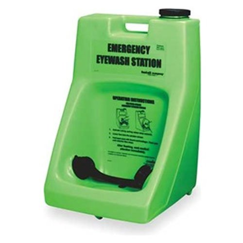 Honeywell Fendall Porta Stream I Eyewash Station with Water Additive, 6 Gallon Capacity, 6 minutes Wash Time, 15-1/2'' L X 22-1/2'' H X 13-1/2'' D, English