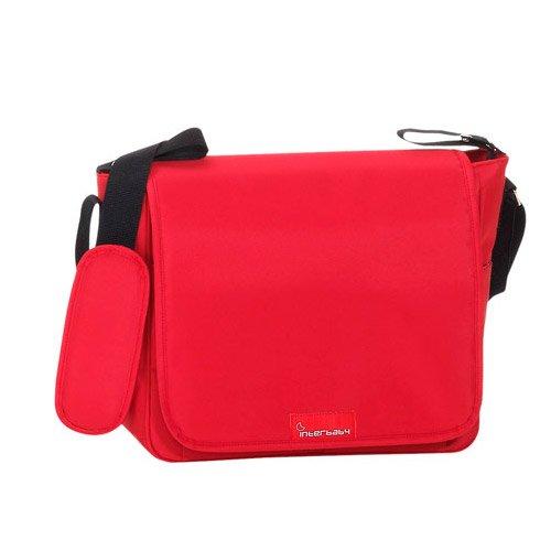 Bolso con Cambiador liso color rojo-INTERBABY de Cien Estrellas