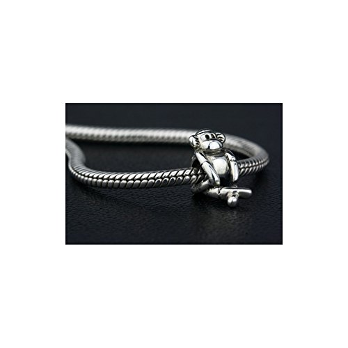 Ohm Perles Argent sterling Singe Perle charm