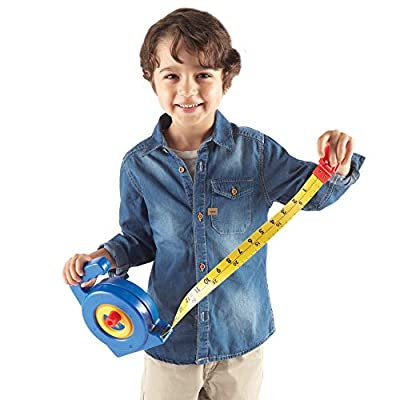 Learning Resources Play Tape Measure, 3 Feet Long, Construction Toy, Easy Grip, Ages 4+: Toys & Games