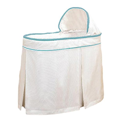bkb Forever Mine Trim Bassinet Set, Blue
