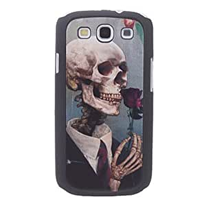hao Skeleton Smell the Rose Pattern Hard Case for Galaxy S3 I9300
