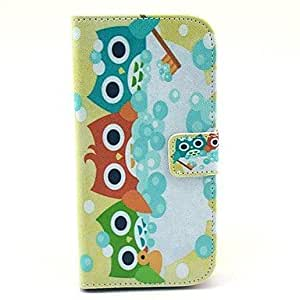 Diversity Owls Pattern PU Leather Full Body Case with Card Slot Stand for LG Google Nexus 5
