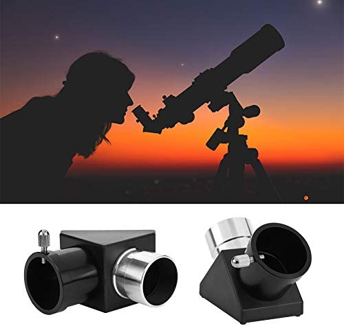 """1.25"""" 90 Degree Diagonal Adapter Erecting Image Positive Prism Optic Mirror for Telescope Eyepiece Accessories"""