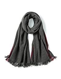 Autumn and Winter Unisex Scarf Warm Thick Plain Scarf (Style : B)
