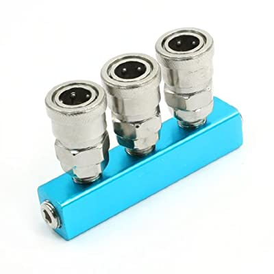 Compressor Pipe Fitting 3 Way Inline Air Hose Quick Connection Coupler