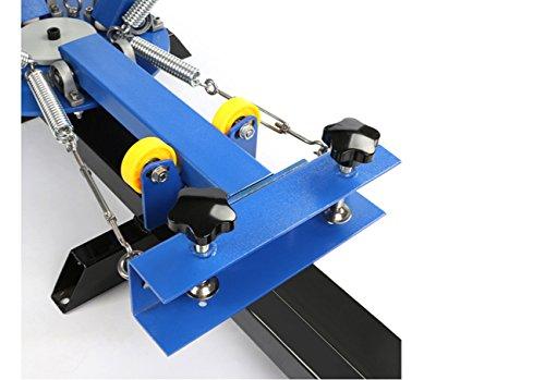Screen Printing Machine 4 Color 2 Station Silk Screen Printing Press Machine for DIY T-Shirt Printing