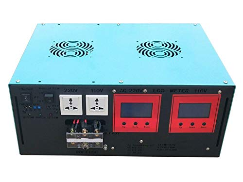 DC 48V 36000W Peak 9000W LF Split Phase Pure Sine Wave Power Inverter DC 48V to AC 110V&220V 60Hz, with LCD Display