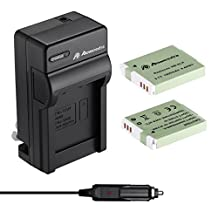 Powerextra Upgraded 2 Pack 1800mAh Replacement CanonNB-6L NB-6LH Battery and Charger Kit for Canon Powershot S120, SX170 IS, SX260 HS, SX280 HS, SX500 IS, SX510 HS, SX520 HS, SX530 HS, SX540 HS, SX600 HS, SX610 HS, SX700 HS, SX710 HS, ELPH 500 HS, D10, D20, D30 Digital Camera