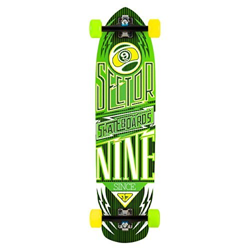 Sector 9 Carbon Flight Complete Skateboard, - Gullwing Sector 9 Charger