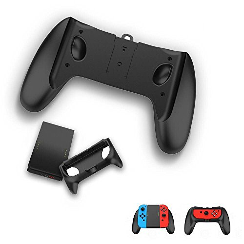 Centeni Multifunction 2-in-1 Charging Grip Kit Comfortable Game Handle for Mario Tennis Aces ARMS and Motion Sensing Games