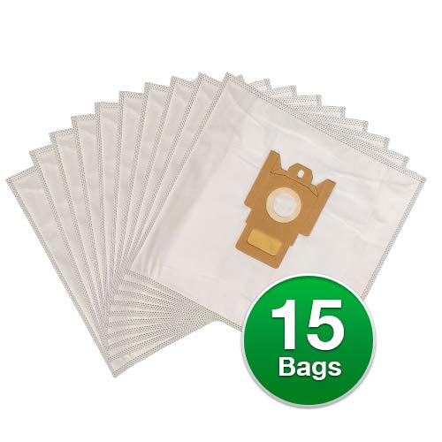 EnviroCare Replacement Anti-Allergen Vacuum Bags for Miele F,J,M Canisters 5 Pack with 2 Filters (15 Bags + 6 Filters)