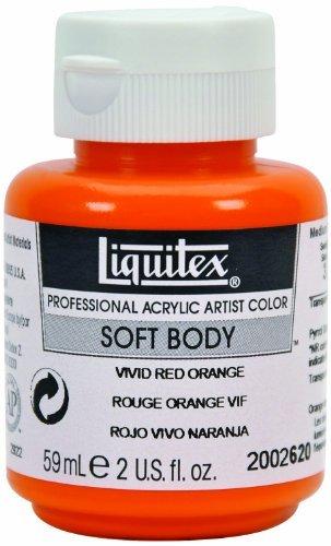 - Liquitex Professional Soft Body Acrylic Paint 2-oz tube, Cadmium Orange Hue by Liquitex