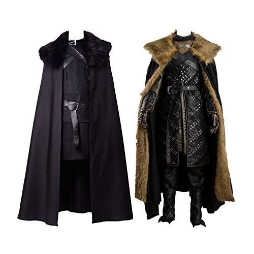 Jon Snow Cosplay Costume Knights Cosplay Night's Watch Costume Halloween Sansa Costume Cape Outfit -