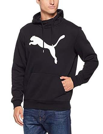 PUMA Men's Ess Big Cat Hoodie, Cotton Black, XL