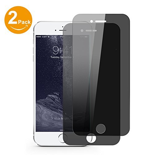 Bestfy 2 PACK iPhone 7 Plus Privacy Screen Protector, Anti-Spy Tempered Glass Screen Protector for iPhone 7 Plus [Anti-Scratch] [Easy Install] (Black)