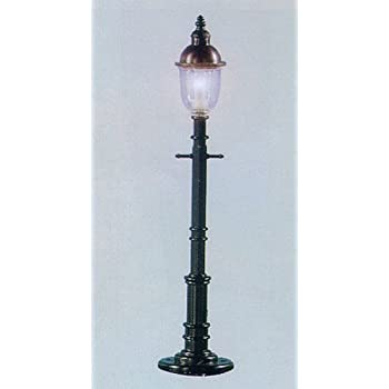 O Old Time Gas Lamp Post, Round/Gray (3) By Model Power