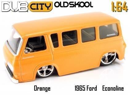 Dub City Jada Oldskool Orange 1965 Ford Econoline 1:64 Scale Die Cast ()