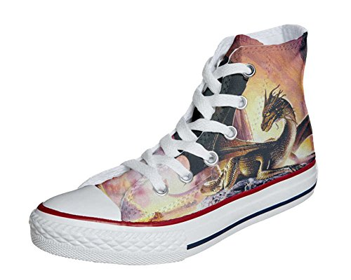 Converse All Star Customized - Zapatos Personalizados (Producto Artesano) Dragón
