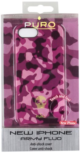 Puro 005413 Back Case - Army - Apple iPhone 5/5S/5SE - Camouflage Pink