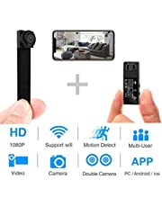 Hidden Spy Camera,1080P WiFi Mini Camera Portable Wireless Security Cameras Video Recorder IP Cameras Nanny Cam with DIY Interchangeable Lens/Motion Detection for Indoor Outdoor Monitoring(Upgraded)