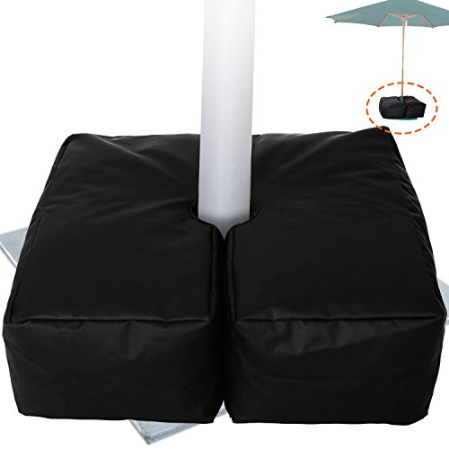 Weather Resistant Weights For Patio Umbrella Base - 19'' Square. For Classic Outdoor Umbrellas, Hanging, Cantilever & Offset Models. Detachable Velcro - Easy Installation. XL Opening For Filling Sand (Umbrella Patio Metal)