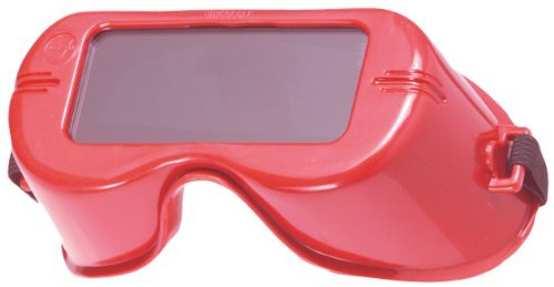 Jackson Safety V100 WR Shade 5.0 Red Polycarbonate Standard Welding Goggles - Non-Vented - 99.9 % UV Protection - Prescription Fit Possible - Rigid Frame - 15986 [PRICE is per EACH] by Jackson Safety
