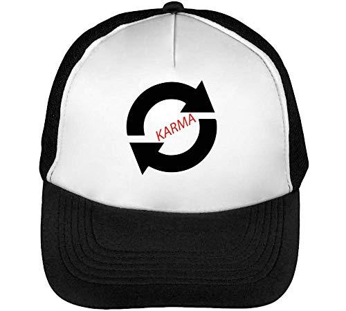 Karma Sign Gorras Hombre Snapback Beisbol Negro Blanco