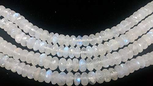 Moonstone Faceted Roundel - Gems World Beautiful Jewelry Strand 10MM, Rainbow Moonstone Faceted Roundel Shape. Length 8 Inch Code-COM-6275