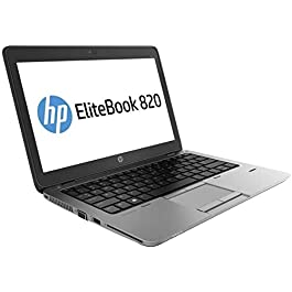 HP EliteBook 820 G2 Laptop (Windows 10 Pro, Intel Core i5 5200U 2.2 GHz, 12.5″ LED-lit Screen, Storage: 256 GB, RAM: 8 GB) (Renewed)