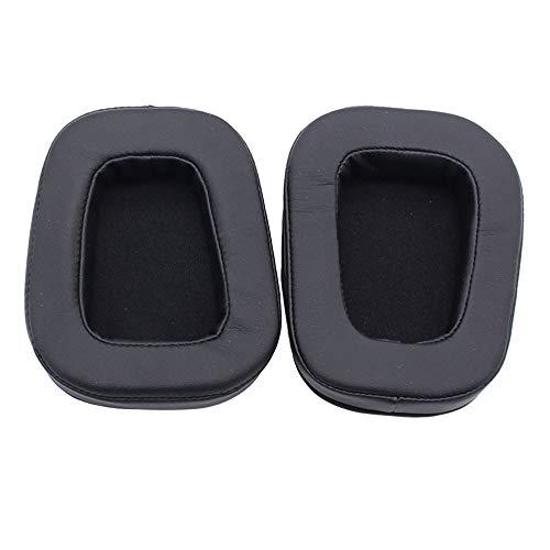 Foam Earmuffs - QUICATCH Compatible for Logitech G933 G633 Surround Gaming Headphones Replacement Earpads Earmuff Soft Foam Earbuds Black 1Pair