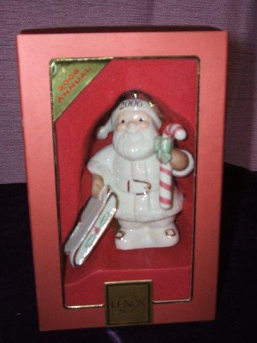 (Lenox 2006 Annual Santa's Sledding Holiday Ornament New in Box)