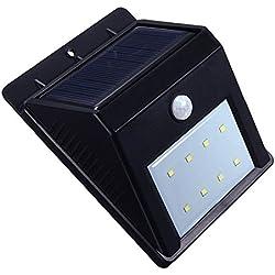 8 LED Solar Power PIR Motion Sensor Wall Light Outdoor Waterproof Garden Lamp TKT-11