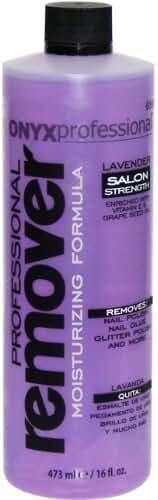 Onyx Professional Moisturizing Formula Nail Polish Remover Lavender Scent, 16 oz